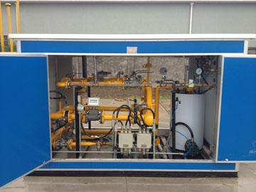 400方CNG减压撬整体工程 正视图